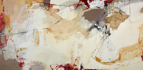 Duck amongst the snow by Natasha Barnes - Original Painting on Box Canvas